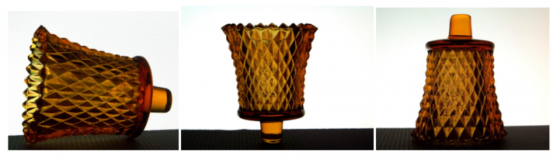 Home Interiors Peg Votive Holder Diamondlite Amber 1194