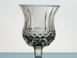 Home Interiors Peg Votive Candle Holder Diamond Cut Wide 1194