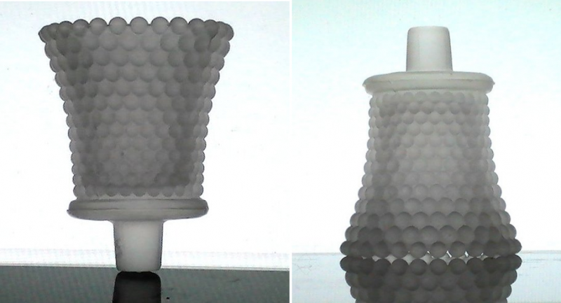 Home Interiors Peg Votive Candle Holder Frosted Hobnail White