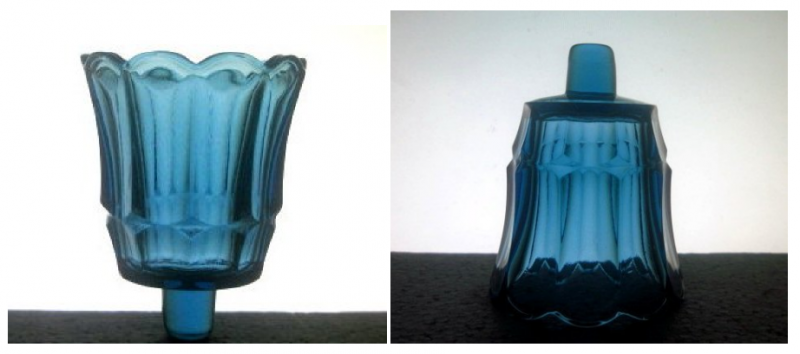Home Interiors Peg Votive Candle Holder Fluted Starlight Blue 11902BD