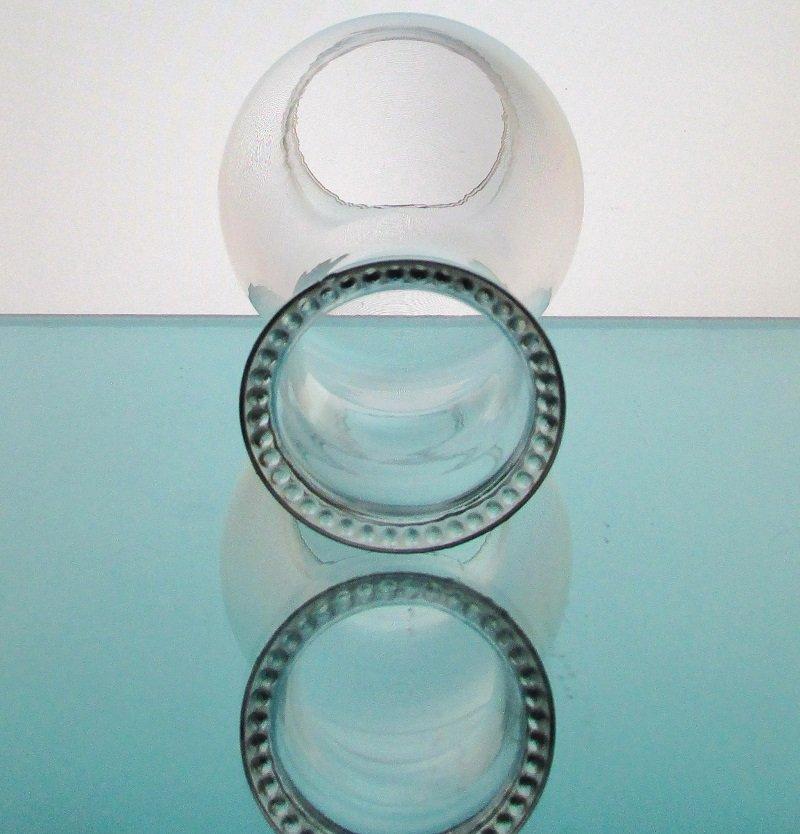 Hurricane Lamp Shade 2 7/8 fitter x 8 5/8 Beaded Rim HLS5703