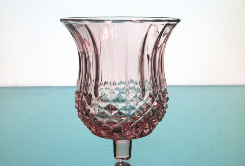 Home Interiors Peg Votive Candle Holder Plum Diamond Cut Wide