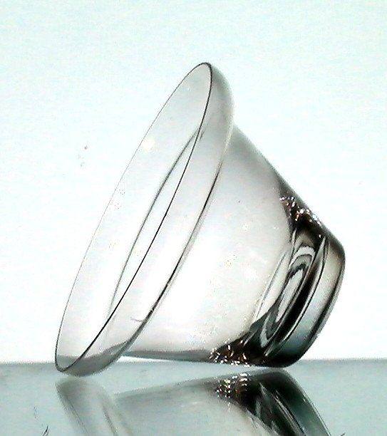Hanging Candle Holder Cup 3 7 8 X 2 5 Shelf Rim Hand Blown