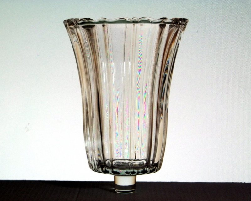 Home Interiors Peg Votive Holder Crystal Royal Jewelite Fancy 1193
