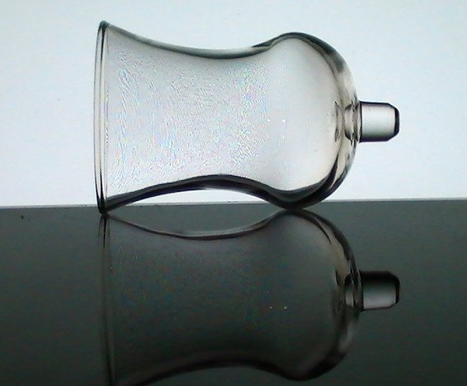 Home Interiors Peg Votive Holder Glass Tall Flared Trumpet Clear Classic