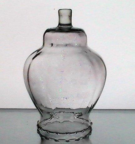 Home Interiors Victorian Peg Votive Glass Celeste Pale Pink Clear