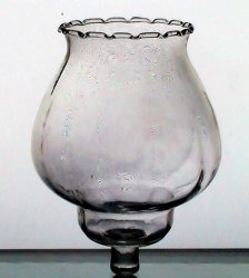Home Interiors Victorian Peg Votive Candle Holder Celeste Pale Pink Clear