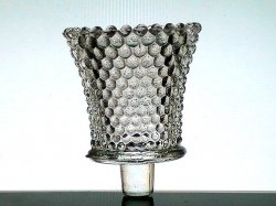 Home Interiors Peg Votive Candle Holder Hobnail Clear Vintage