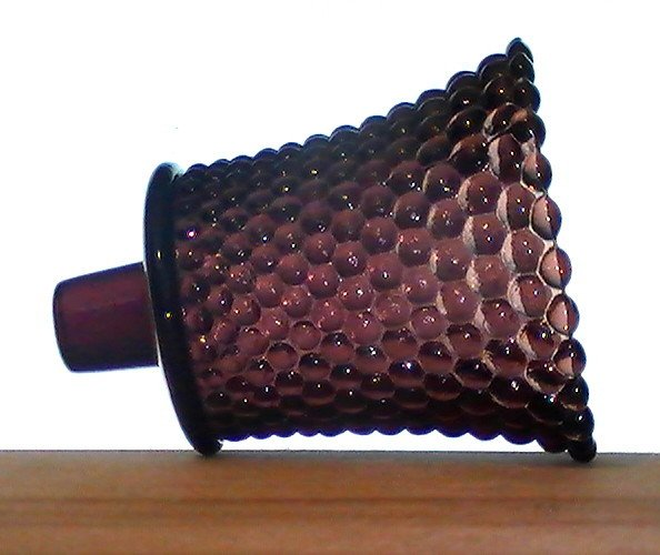 Home Interiors Peg Votive Holder Hobnail Dark Plum Purple RARE