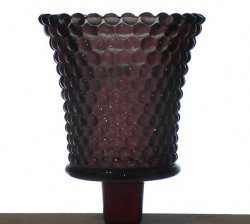 Thumbnail of Home Interiors Peg Votive Holder Hobnail Dark Plum Purple RARE