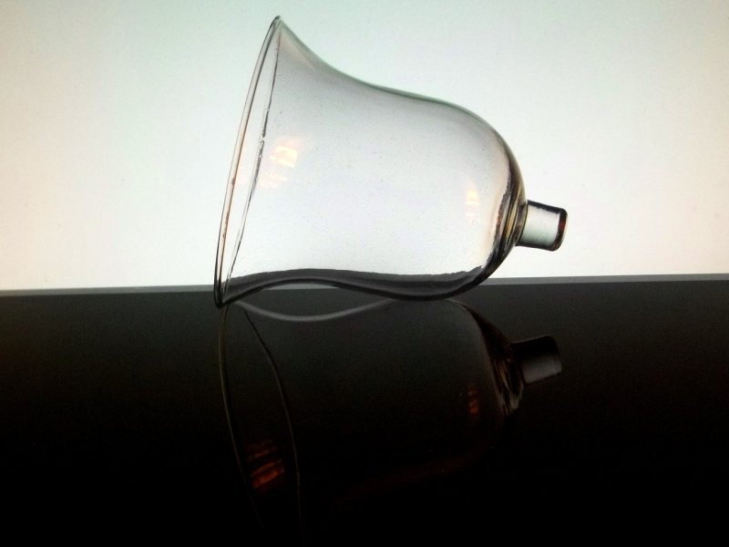 Home Interiors Peg Votive Candle Holder Milano Clear Bell Shaped