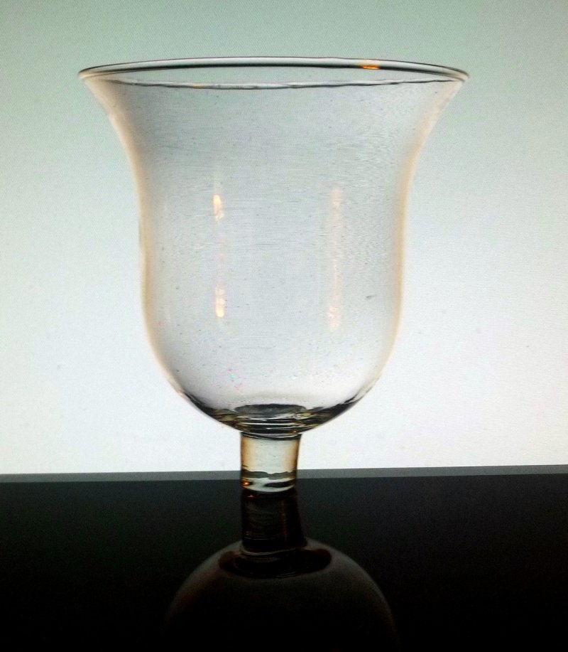 Home interiors peg votive candle holder milano clear bell shaped oos