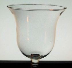 Home Interiors Peg Votive Candle Holder Milano Clear Bell Shaped 11110-IS