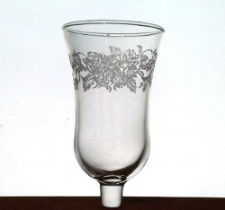 Home Interiors Peg Votive Candle Holder Embossed Peonies