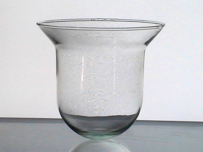 Hanging Candle Holder Cup Round Bottom Flare 5 x 5 3/8