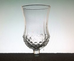 Home Interiors Peg Votive Candle Holder Clear Large Diamond Crystal
