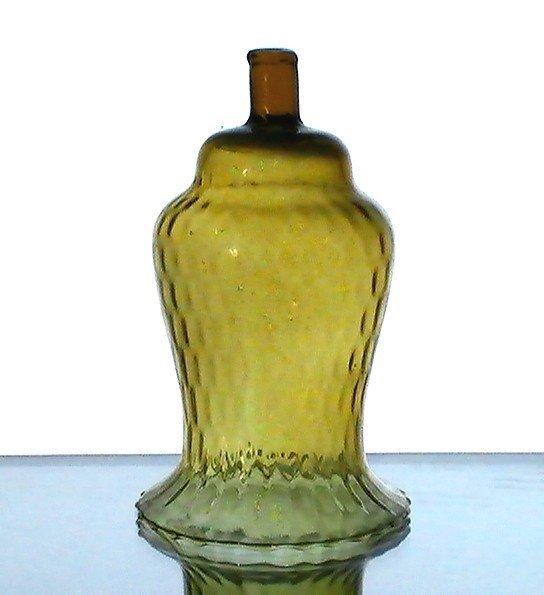 Home Interiors Peg Votive Candle Holder Amber Flared Rim Tudor Style