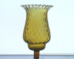 Home Interiors Peg Votive Candle Holder Amber Flared Rim Tudor Style