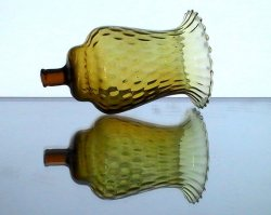 '.Peg Votive Candle Holder Amber.'