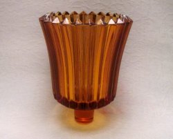 Home Interiors Peg Votive Candle Holder Ridged Amber
