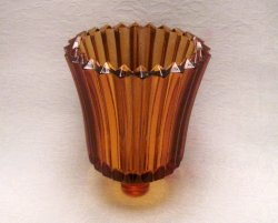 '.Peg Votive Holder Amber Ridged.'