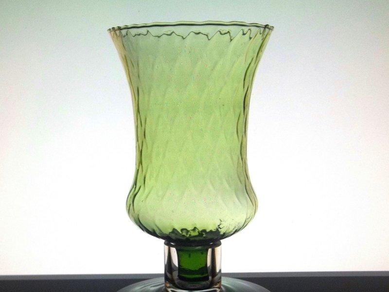Home Interiors Peg Votive Candle Holder Flared Green Tudor Style