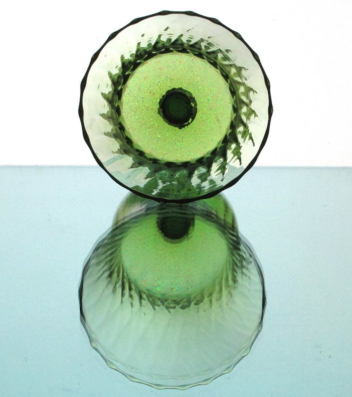 Image 3 of Home Interiors Peg Votive Candle Holder Flared Green Tudor Style OOS