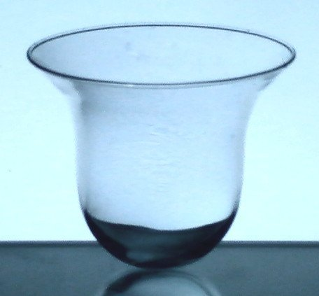 Hanging Candle Holder Round Bottom Flare 5.25 x 4.75 HCH121 Clear