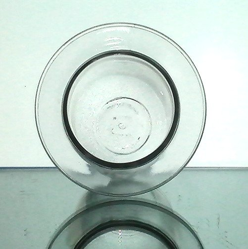 Hanging candle holder 4 x flat rim thick glass clear oos for Flat candle holders