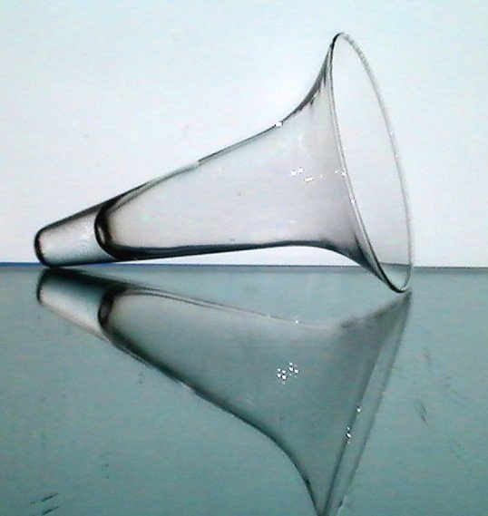 Wall Vase Glass Cone Vessel 7 75 X 5 Clear Flared Rim Oos
