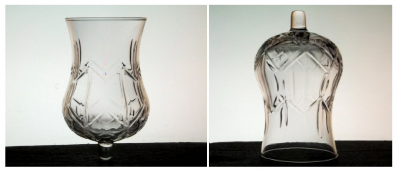 Home Interiors Peg Votive Candle Holder Large Diamond Hurricane 1109DI
