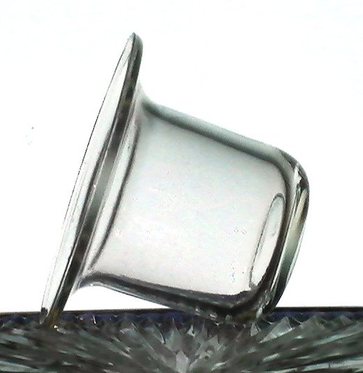 Hanging candle holder cup flat bottom flare 3 7 8 w x for Flat candle holders