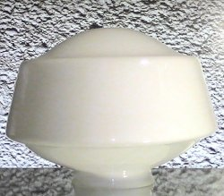 '.Glass Lamp Shade Schoolhouse.'