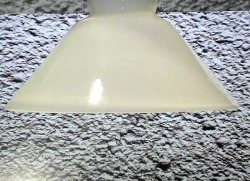 Glass Lamp Shade White 3 inch fitter x 10 x 4.5 Cone Shaped Vintage