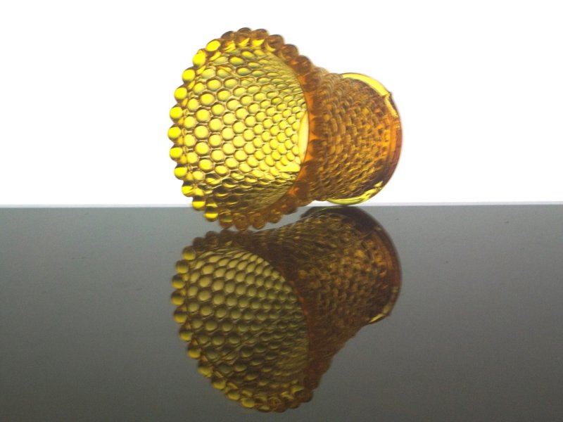 Home Interiors Peg Votive Holder Hobnail Golden