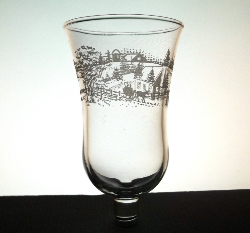 Home Interiors Peg Votive Country Church Embossed Candle Holder