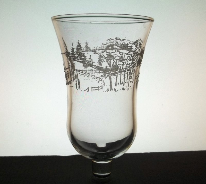 Home Interiors Peg Votive Candle Holder Country Church Embossed