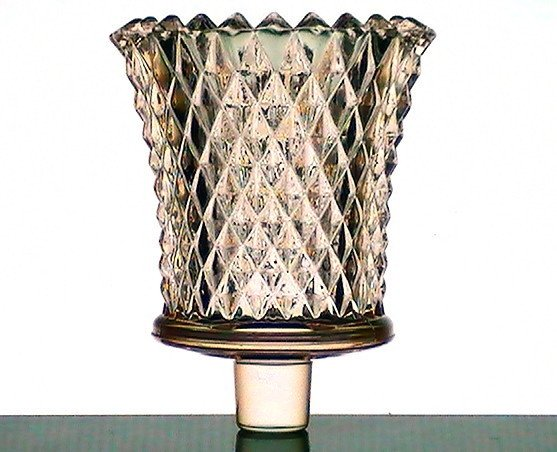 Home Interiors Peg Votive Cup Glass Pale Pink Diamondlite Oos