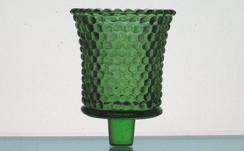 Home Interiors Peg Votive Candle Holder Hobnail Kelly Green RARE