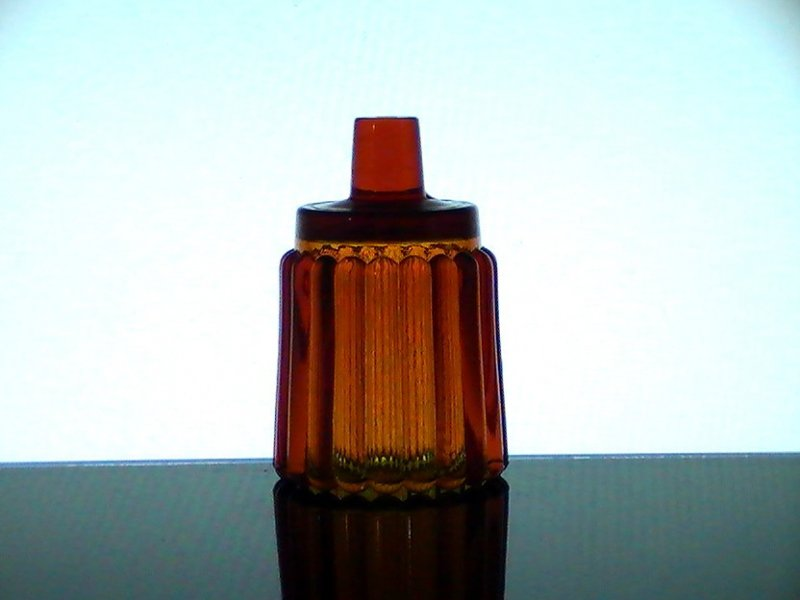 Home Interiors Peg Votive Candle Cup Holder Rounded Ridged Amber