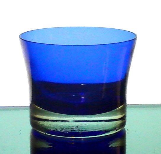 Candle Holder Cobalt Blue Large Heavy Base
