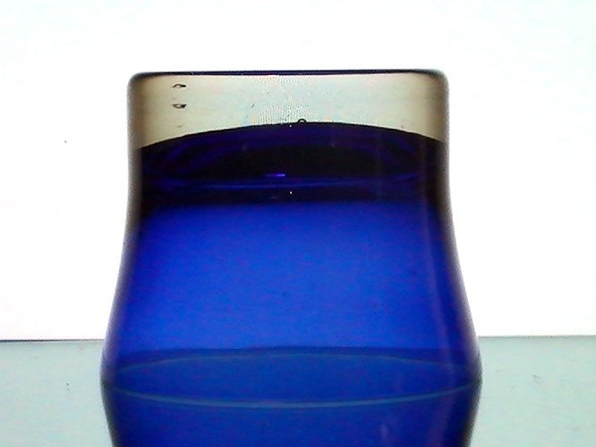 Candle Holder Cobalt Blue Large Heavy Base