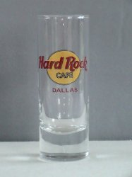 Hard Rock Cafe DALLAS Collectible Tall Shot Glass Shooter 2 oz