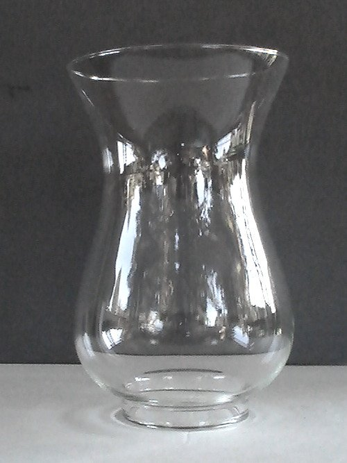 glass hurricane lamp shade 2 7 8 inch fitter x 8 with short 1 2 in. Black Bedroom Furniture Sets. Home Design Ideas