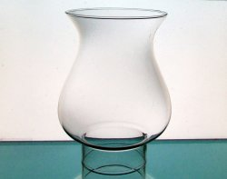Glass Hurricane Lamp Shade 3.5 inch fitter x 7.75 x 5.25 x 6.25 x 1 in neck