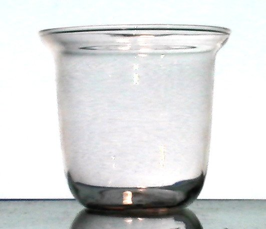 Hanging Candle Holder Clear 4 1/8 W x 3 7/8 H Flat Bottom HCH104