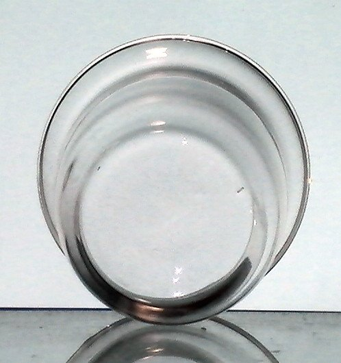 Hanging Candle Holder Clear 4 1/8 W x 3 7/8 H Flat Bottom HCH108