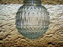 Vintage Glass Lamp Shade Elegant Ball 3.25 inch fitter x 6