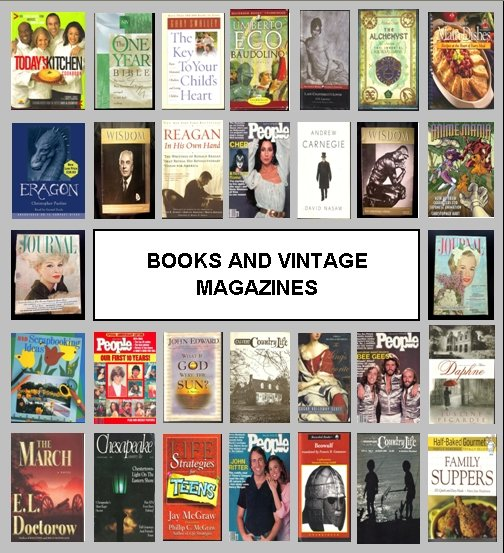 Featured on the home page... Books and Vintage Magazines.