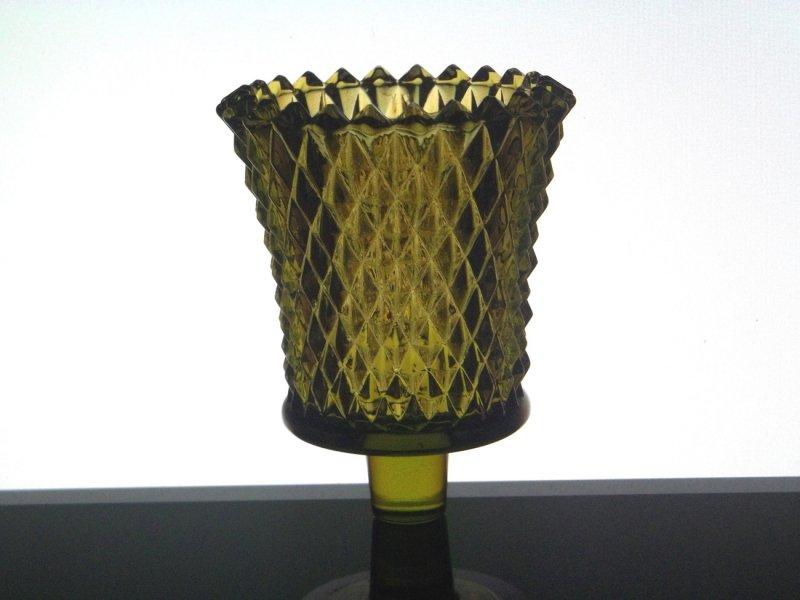 Home Interiors Peg Votive Candle Holder Olive Green Diamondlite 1194